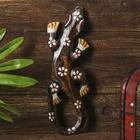 """Панно дерево """"Геккон с принтом цветок"""" 0,5х7,5х20 см"""