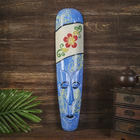 Настенная маска 'Цветок' дерево,песок  2,5х11х50 см Ош