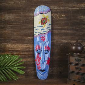 Настенная маска 'Черепаха' дерево,песок  2,5х11х50 см Ош