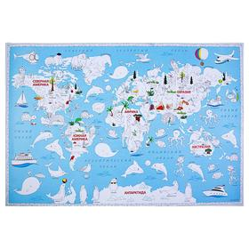 Карта-раскраска «Обитатели Земли», 101 х 69 см