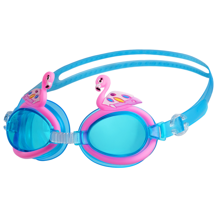 Очки для плавания «Фламинго», детские, цвета МИКС