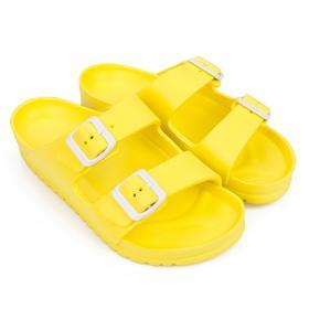 Сланцы женские пляжные, цвет жёлтый, размер 36