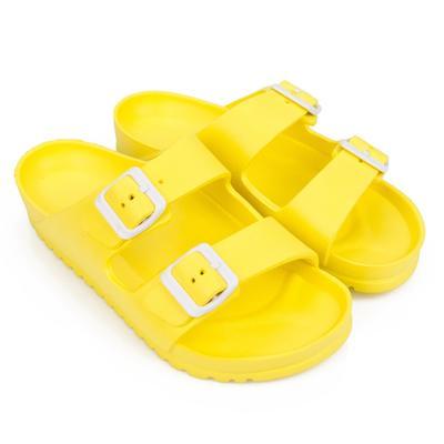 Сланцы женские пляжные, цвет жёлтый, размер 36 - Фото 1
