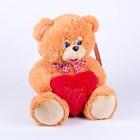 Мягкая игрушка «Медвежонок с сердцем», маленький, 45 см, цвет МИКС