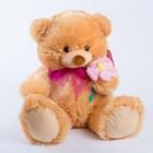 Мягкая игрушка «Мишка малый», с цветком, 45 см, цвет МИКС