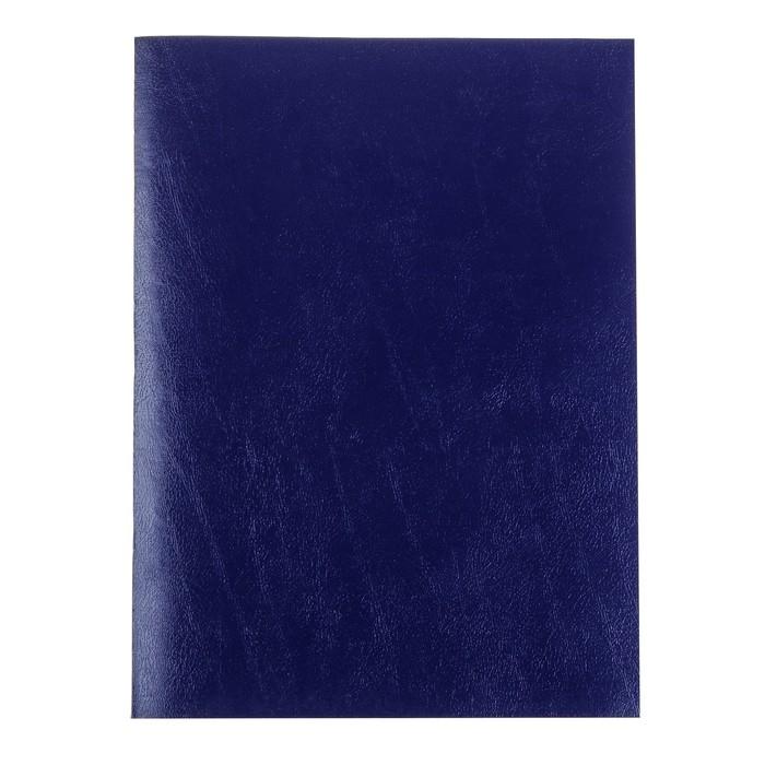 Тетрадь А4, 96 листов в клетку «Синяя», бумвинил