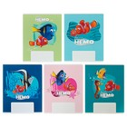 Тетрадь 12 листов клетка «В поисках Немо и Дори DISNEY», обложка мелованный картон, МИКС