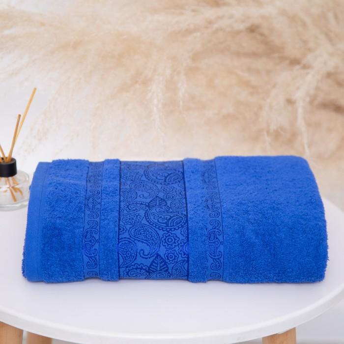 Полотенце махровое Бодринг 50х90 +/- 2 см, синий, хлопок 100%, 430г/м2