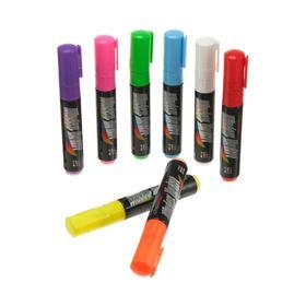 Фломастер для вывески, стержень прямоугольный 8х5 мм, 6 шт, цвета 'МИКС' Ош