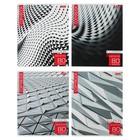 Тетрадь 80 листов в клетку, New art, картонная обложка, МИКС