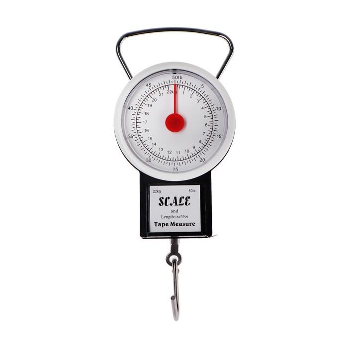Безмен LuazON, механический, до 22 кг, цена деления 250 г, черный