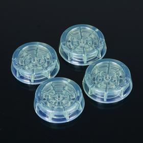 Подставки антивибрационные круглые, 4 шт, прозрачные Ош