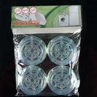 Подставки антивибрационные круглые, 4 шт, прозрачные - Фото 3