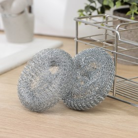 """Мочалка для посуды """"Спираль"""", плетёная, 2 ш., 15 г"""