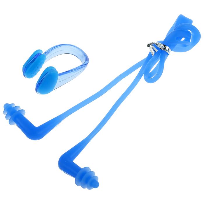Беруши для плаваниязажим для носа, силикон, цвета МИКС