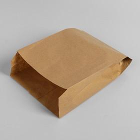 Пакет бумажный фасовочный, крафт, V-образное дно 25 х 17 х 7 см Ош