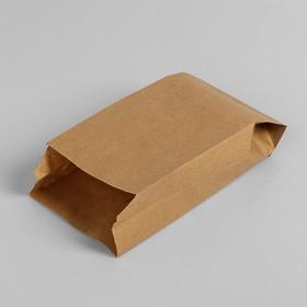 Пакет бумажный фасовочный, крафт, V-образное дно 21 х 10 х 5 см Ош