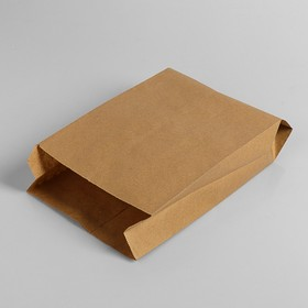Пакет бумажный фасовочный, крафт, V-образное дно 30 х 17 х 7 см Ош