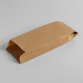 Пакет бумажный фасовочный, крафт, V-образное дно 30 х 10 х 5 см Ош