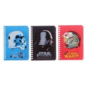 Записная книжка А6, 80 листов на гребне «Звёздные войны», картонная обложка, МИКС Ош
