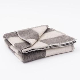 Одеяло полушерстяное, размер 100х140 см, цвет микс Ош
