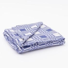 Одеяло байковое размер 100х140 см, цвет микс для мал., хл80%, ПАН 20%, 420гр/м Ош