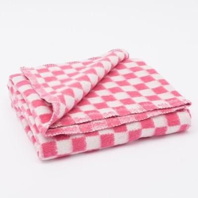 Одеяло байковое размер 90х140 см, МИКС для дев., хл80%, ПАН 20%, 420гр/м - Фото 1