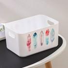 Корзина для хранения Serenity, 2,3 л, 23×15×12 см, цвет снежно-белый