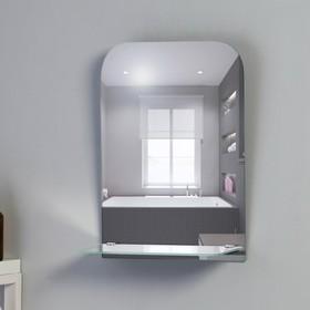 Зеркало, настенное, с полкой, 30×40 см Ош