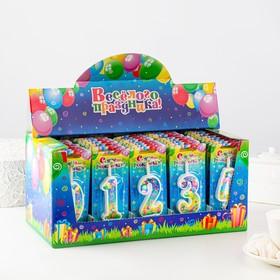 Шоу-бокс со свечами для торта цифры 'С Днём Рождения' 50 штук Ош