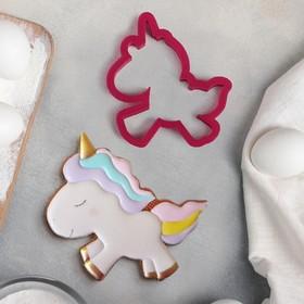 Форма для вырезания печенья Lubimova «Единорожек», 9 см, цвет МИКС