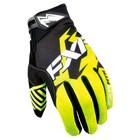 Перчатки FXR Elevation Lite без утеплителя, чёрный, жёлтый, S