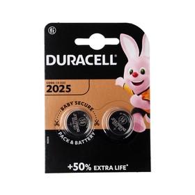 Батарейка литиевая Duracell, CR2025-2BL, 3В, блистер, 2 шт.