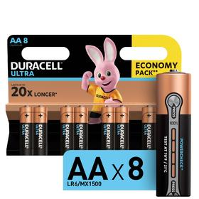 Батарейка алкалиновая Duracell Ultra Power, AA, LR6-8BL, 1.5В, 8 шт