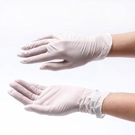 Медицинские перчатки Benovy L, латексные, опудренные, гладкие