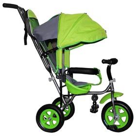 Велосипед трехколесный Лучик Малют 1, надувные колёса 10'/8', цвет салатовый Ош