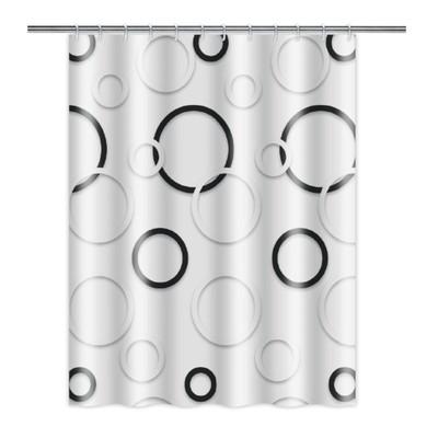 Шторка для ванной 180 х 180 см, полиэстер - Фото 1
