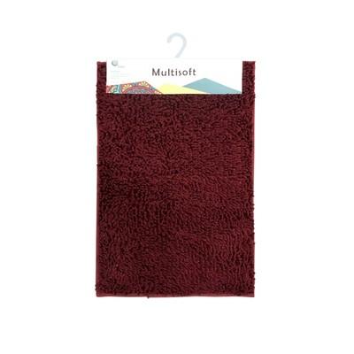 Коврик для ванной Multisoft, 60 х 90 см, цвет бордо