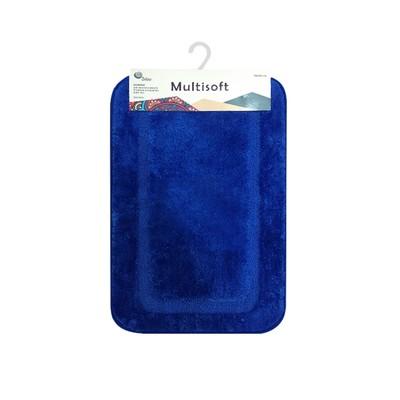 Коврик для ванной Multisoft, 50 х 80 см, ворс 20 мм, цвет голубой