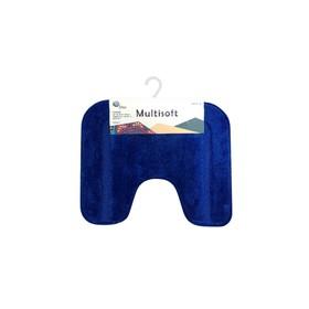 Коврик для туалета Multisoft, 45 х 55 см, ворс 20 мм, цвет голубой