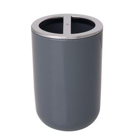 Стаканчик для зубных щёток Alba Grey, пластик