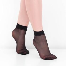 Носки женские, 30 ден, цвет чёрный, размер 36-40 (р-р 23-25) Ош