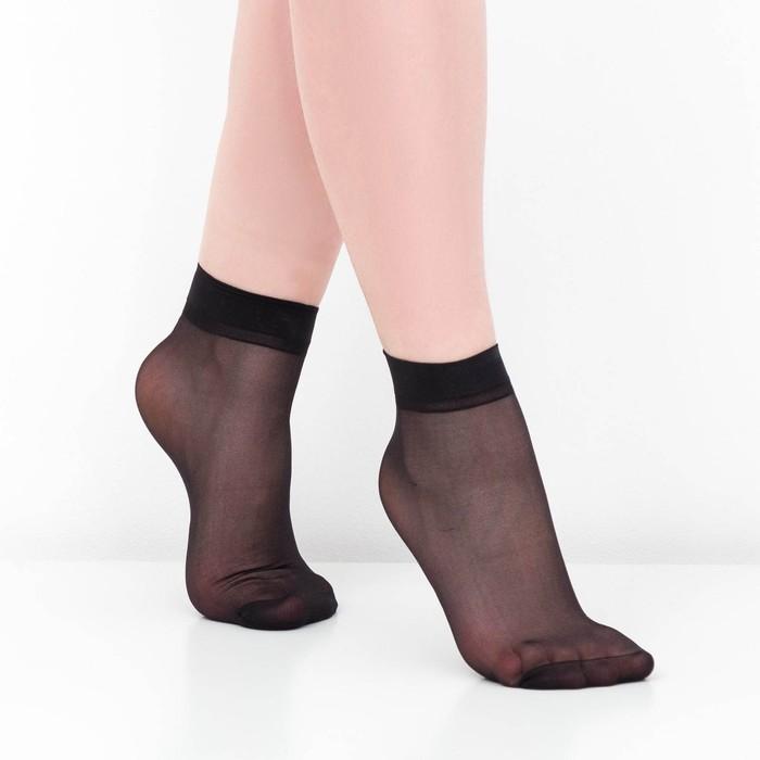 Носки женские, 30 ден, цвет чёрный, размер 36-40 р-р 23-25