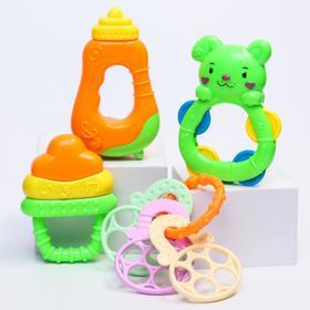 Набор погремушек «Играть веселее!», с прорезывателями, 4 предмета