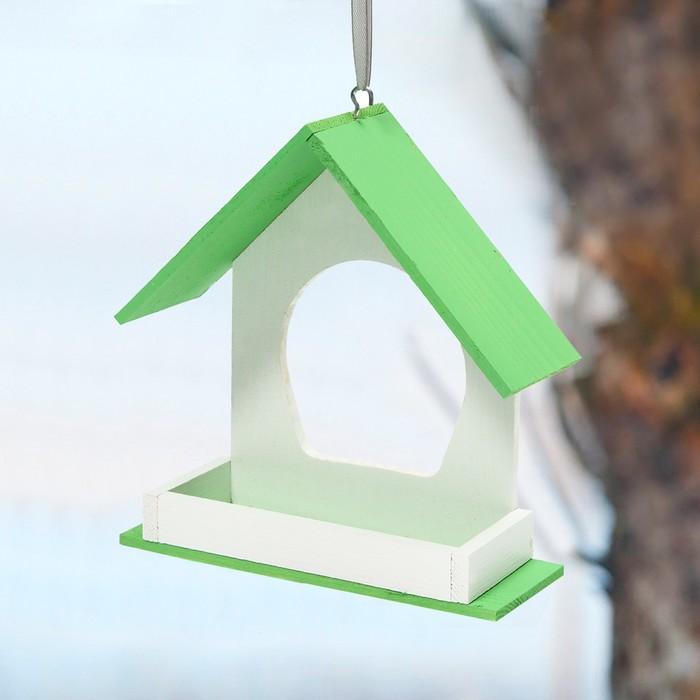 Kopмушка для птиц «Беседка», 20 × 20 × 12 см
