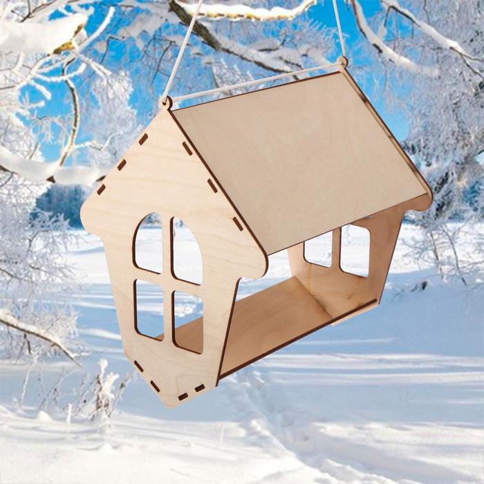 Kopмушка для птиц «Дом перевёрнутый», 20 × 18 × 21 см
