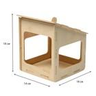 Kopмушка для птиц «Домик малый», 15 × 14 × 17 см - Фото 2