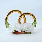 "Кольца на крышу ""Николь"", с цветами, белые, 30х35х26 см"