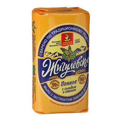 Мыло «Жигулевское», с экстрактом пивных дрожжей, расцветка МИКС, 90 г - Фото 1