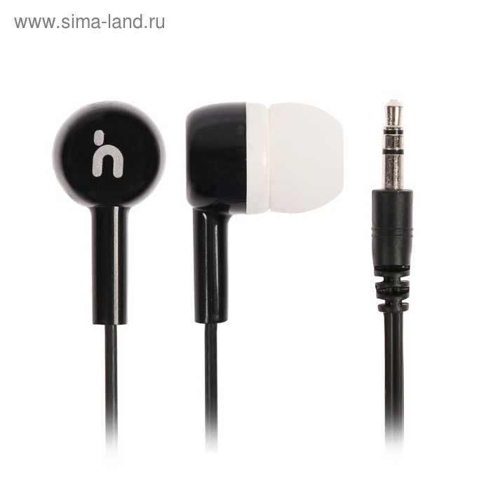 Наушники Human Friends Tango, вакуумные, 20-20000Гц, 32Ом, 3.5 мм, кабель 1.2 м,черно-белые
